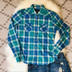 American Eagle Favorite Fit plaid button down {S}